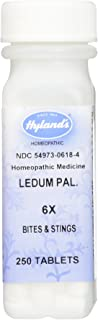 Hyland's Ledum Pal. 6X Tablets, Natural Relief of Bites, Stings & Minor Puncture Wounds, 250 Count