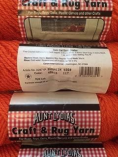 Pumpkin (Orange) Aunt Lydia's Craft and Rug Yarn.