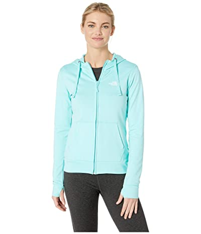 The North Face Fave Lite LFC Full Zip (Mint Blue Heather/TNF White) Women