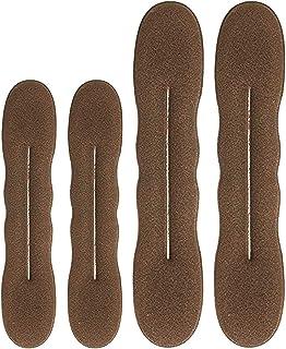 Brown Magic Bun Maker Foam, Hawwwy 4 Pack, Easy Sponge Hair Shaper, Perfect Padding for Updos, Chignon Maker, Donut Maker ...