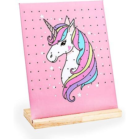 Unicorn Fabric Framed Earring Holder Hoop Art
