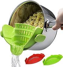 Snap Strainer, 2 PACK Silicone Clip On Strain Strainer Colander Kitchen Gadgets Food Drainer For Pasta, Spaghetti, Ground ...