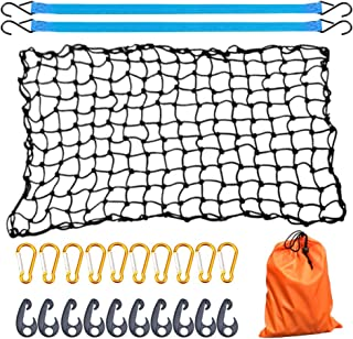 AxPower Bungee Cargo Net 4' x 6' Stretchable to 8' x 12' for Pickup Truck Bed Trailer Luggage Net Heavy Duty Tie-Down Mesh...