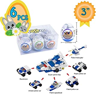 Totem World 6 Filled Easter Egg Building Toys - Police Vehicle Set - Age 6-12 Learning Educational Inside 3