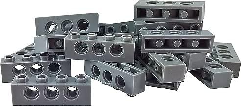 LEGO Parts and Pieces: Technic Light Gray (Medium Stone Grey) 1x4 Brick with Holes x50