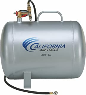 California Air Tools CAT-AUX10A Lightweight Portable Aluminum Air Tank, 10 Gallon, Silver