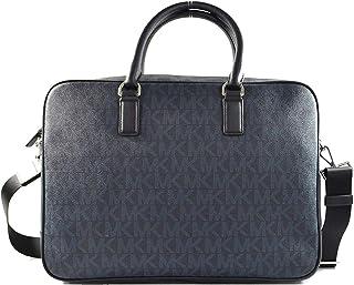 Michael Kors 37H7LMNA3B Signature PVC Jet Set Mens Large Leather Briefcase Laptop Bag in Baltic Blue