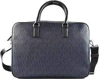 Michael Kors Jet Set Mens Large Leather Briefcase Laptop Bag Baltic Blue (BALTIC BLUE)