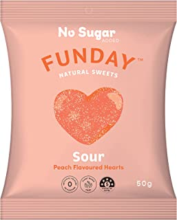 Sour Peach Flavoured Hearts (Pack of 12)