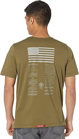 Blood Chit II Tee with Back Reflective American Flag