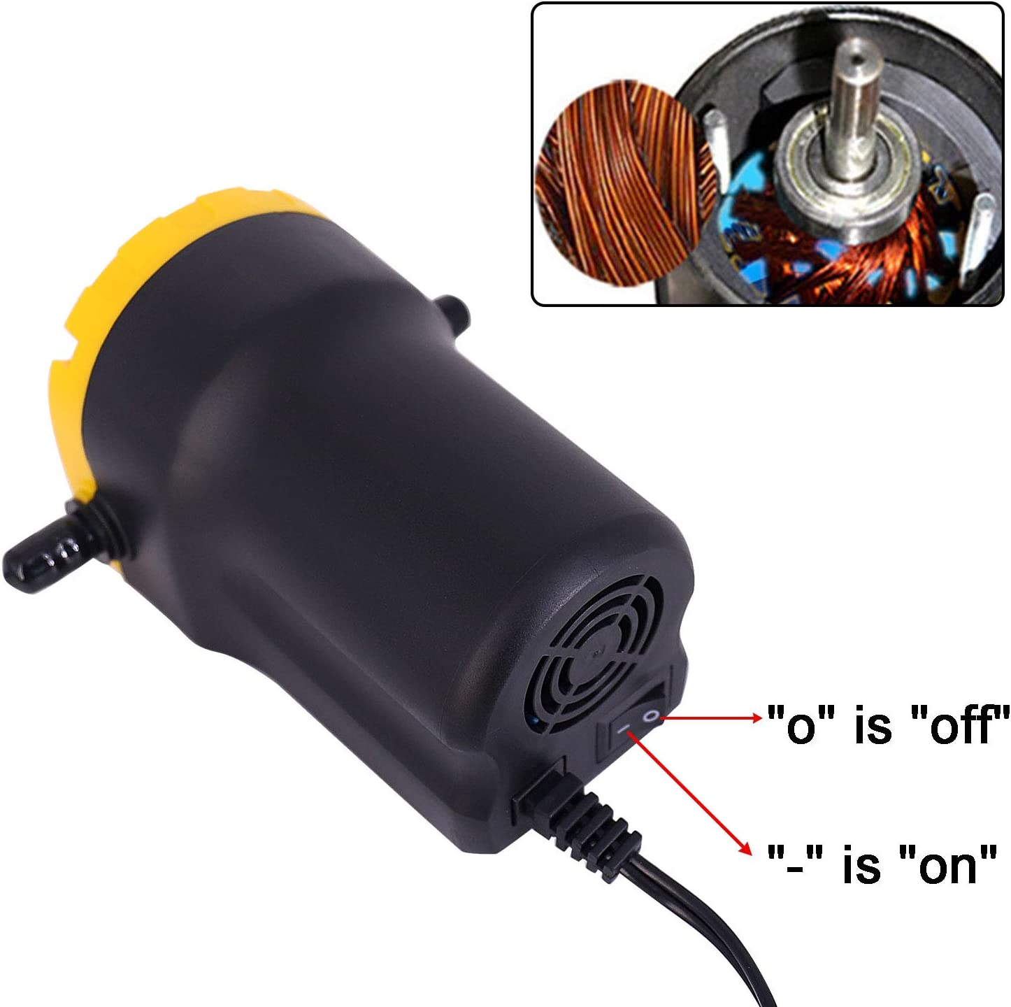 12V 60W Motor Oil Diesel Fluid Transfer Pump Qucik Oil Extractor Pump Scavenge Suction for Car Boat Motorbike Truck RV ATV(Upgrade) WAMTHUS Oil Change Pump Extractor