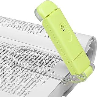 DEWENWILS Lámpara de lectura de color ámbar, pinza para libro, bloqueo de luz azul, recargable, para leer en la cama, 3 niveles de brillo ajustables, regalo para niños y lombrices