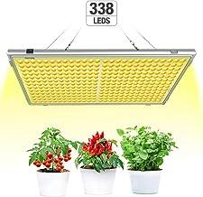 300W Led Horticole, Relassy Lampe de Plante Lampe de Culture avec 338 LEDs, Led Culture Spectre Complet Lampe de Croissance pour Plante Floraison Croissance D'intérieur