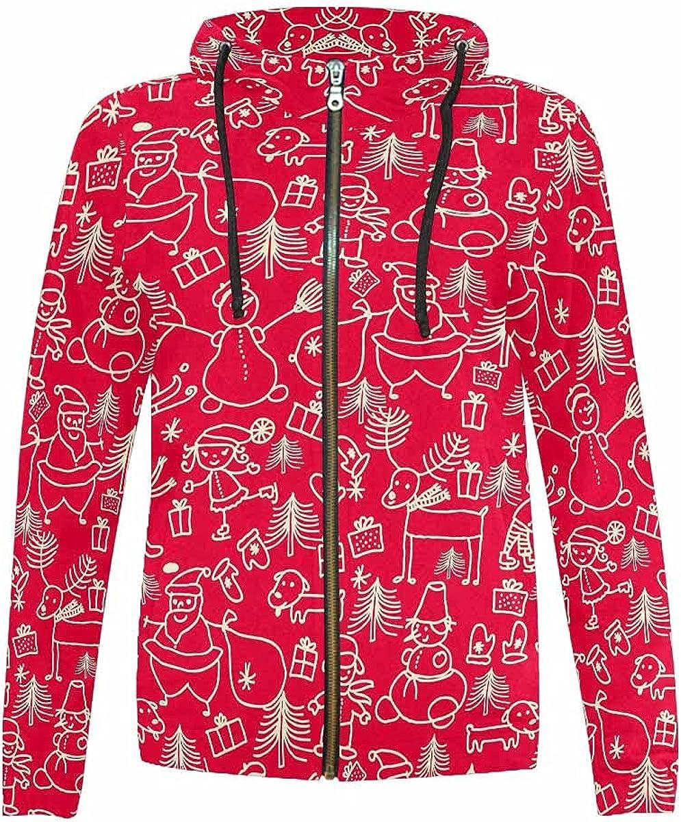 InterestPrint Christmas Santa Year-end gift Clause Deer Snowman and San Diego Mall Hood Kids