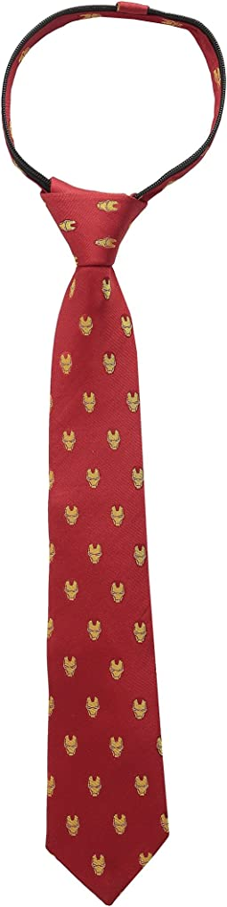 Iron Man Zipper Tie (Little Kids)