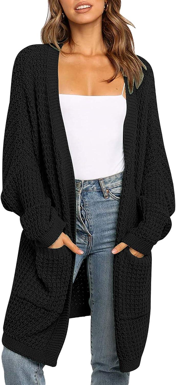 BTFBM Women Long Sleeve Open Front Plain Knit Cardigan Fashion Color Block Striped Slouchy Loose Sweater Outwear Coats