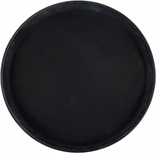 Winco Easy Hold Round Tray, 16-Inch, Black