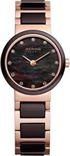 BERING Time 10725-765 Womens Ceramic Collection Watch with Stainless Steel Band and Scratch Resistant Sapphire Crystal. Designed in Denmark.
