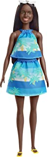 Barbie Loves The Ocean Beach-Themed Doll (11.5-inch Brunette), Made from Recycled Plastics, Wearing Fashion & Accessories, Gift for 3 to 7 Year Olds