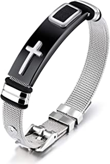 Best cross stainless steel bracelet Reviews