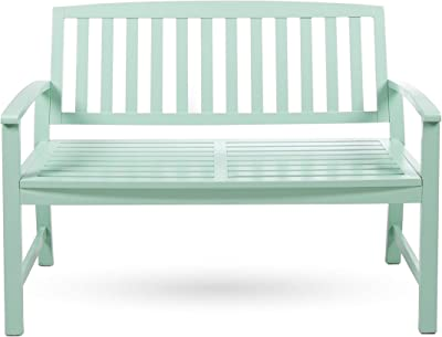 Christopher Knight Home Loja Outdoor Acacia Wood Bench, Light Mint