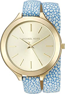 Michael Kors Women's Slim Runway Blue Watch MK2478