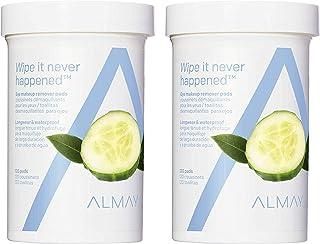 پد های پاک کننده آرایش چشم Almay Longwear & Waterproof Removal، Hypoallergenic، عاری از عطر ، دو قطعه از 120 پد