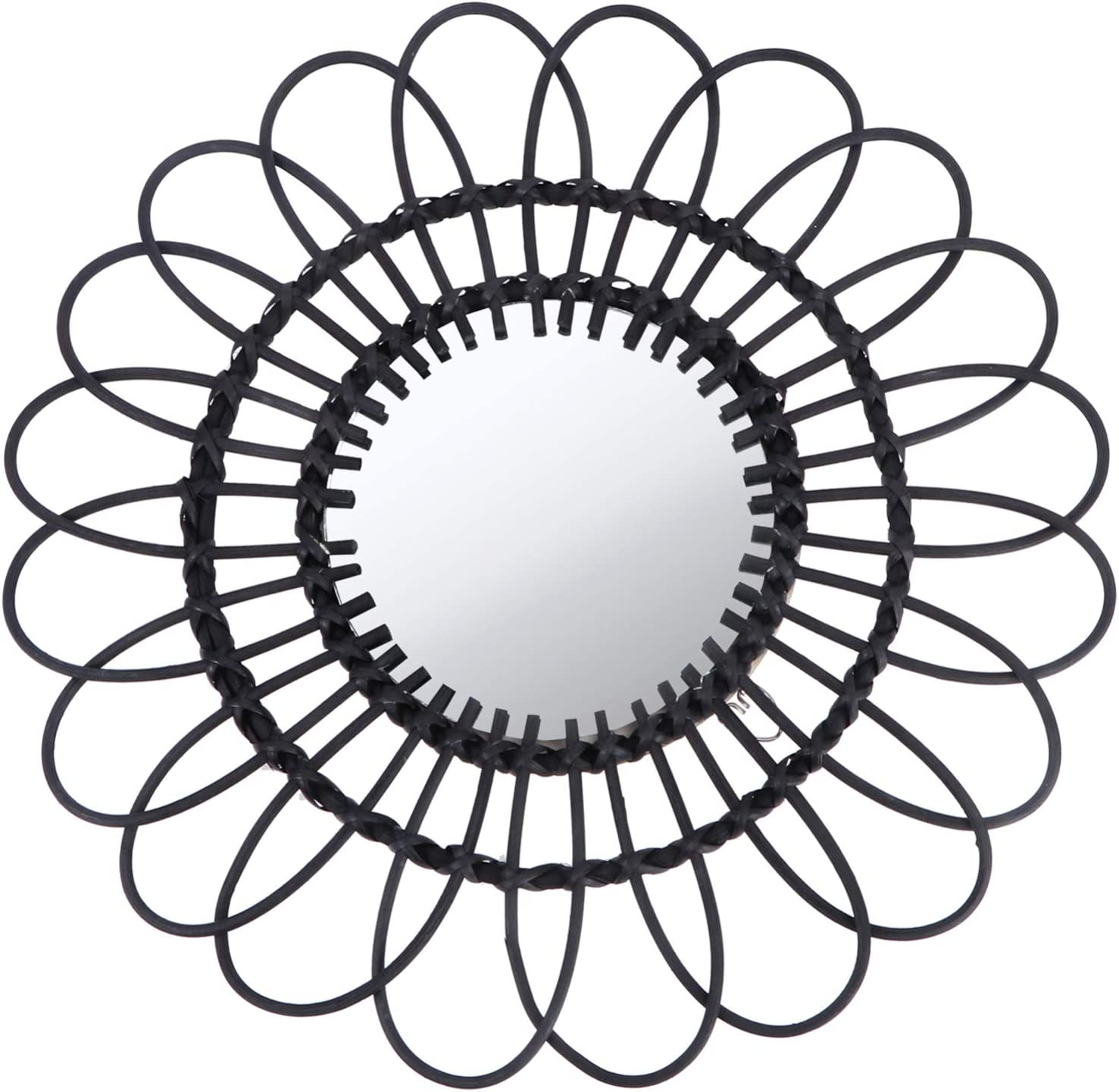 Cabilock Hanging Mirror Popular brand in the world Rattan No Directly managed store Circular Wall Sunflower