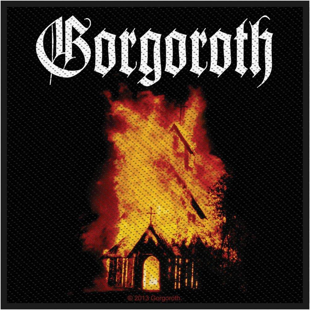 Gorgoroth Burning Church Norwegian Black Metal Music Band Woven Patch Applique