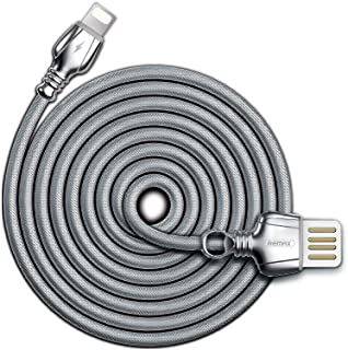 REMAX King Data Cable Lightning Charging Data Cable 2.1a for iPhone Apple USB Port Devices [Rc-063i,Silver]