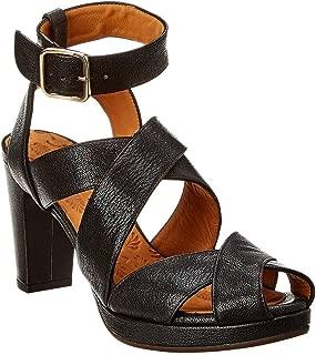 Ghana Leather Sandal, 38, Black
