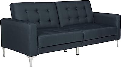Safavieh Livingston Collection LVS2000C Soho Navy Blue Tufted Foldable Sofa Bed