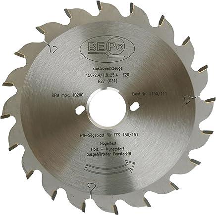BEPo 1150//112/Lame de scie circulaire HW Tondeuse /à la fen/être Joints ffs150//151/N pour bois et m/étal