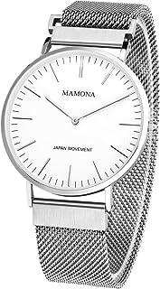 MAMONA Men's Watch Bracelet Mesh Strap Band On Sale Clearance G3881WT