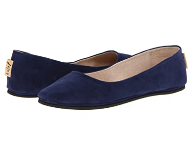 French Sole Sloop Flat (Navy Suede) Women