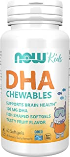 Now Foods Kids Chewable DHA Tasty Fruit Flavor - 60 Softgels