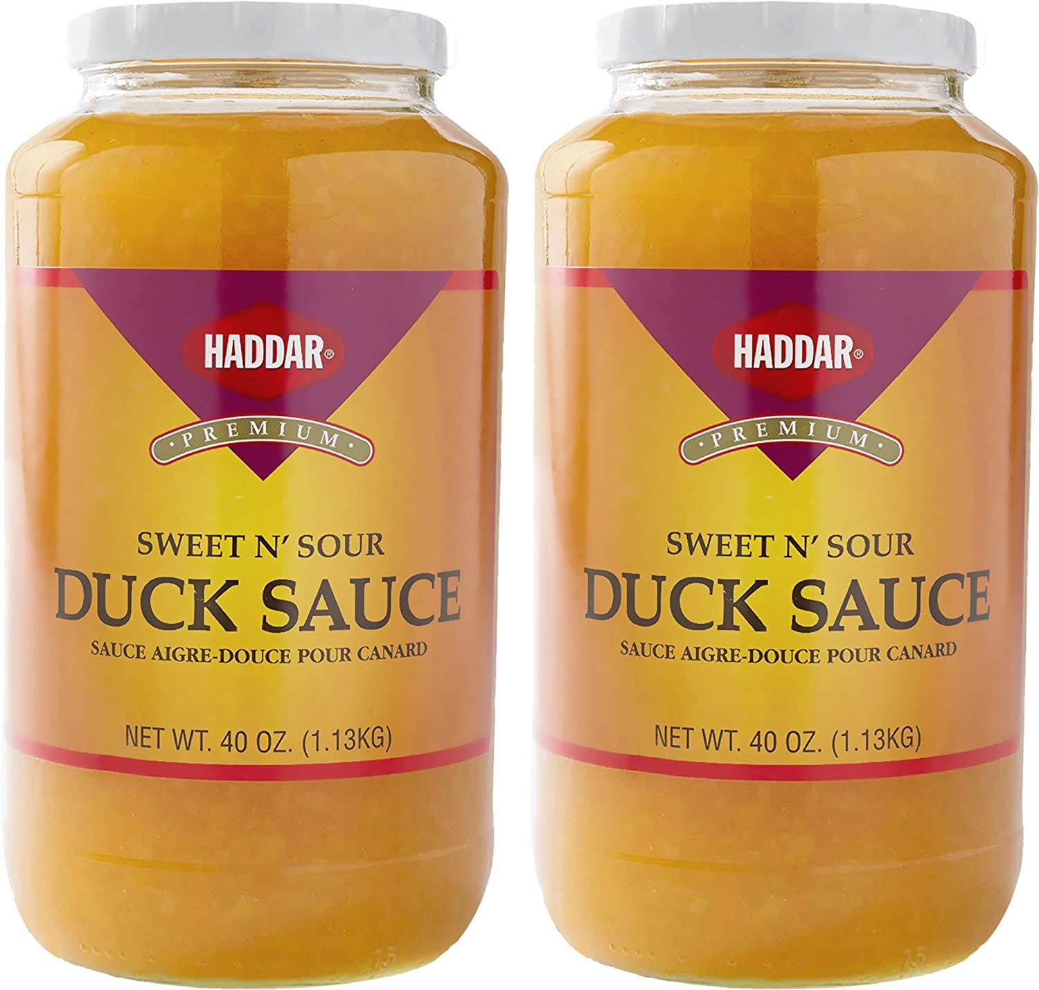Haddar Sweet Sour Duck Sauce 40oz 2 Fat Free No Regular Max 43% OFF discount MSG Pack