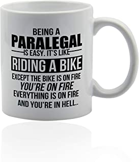 Paralegal gifts 11 oz. white ceramic cup. Coffe mugs for paralegals.
