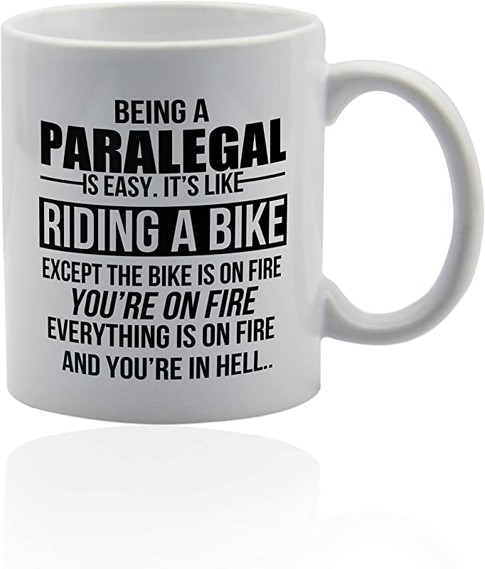 Paralegal Gifts 11 Oz White Ceramic Cup Coffe Mugs For Paralegals