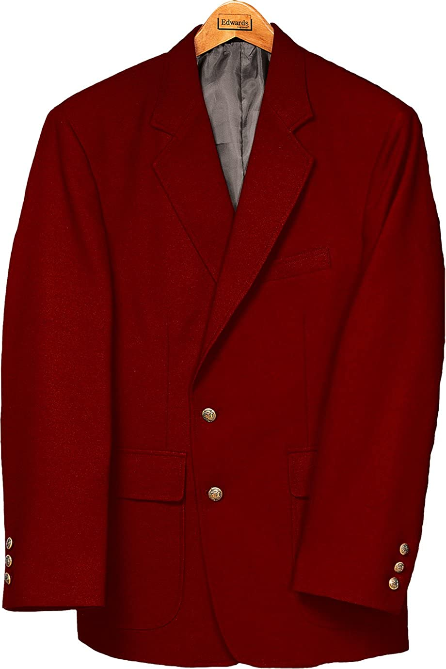 Edwards Men's Value Poly Blazer, RED, 46