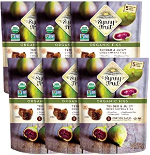 Sponsored Ad - ORGANIC Turkish Dried Figs - Sunny Fruit - (6 Bags) - (5) 1.76oz Portion Packs per Bag | Purely Figs - NO A...