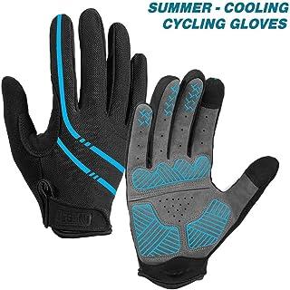 Aegend Breathable Full Finger Cycling Gloves - Touch Screen, Anti-Slip Bike Gloves, Lightweight Mountain Bike Gloves for Biking, Climbing, Hiking, Unisex Motorcycle Gloves for Men/Womem