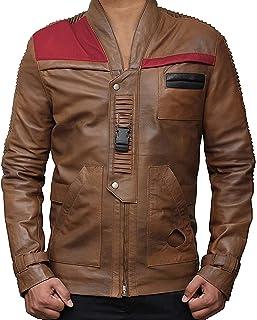 RealLambskin Leather Jacket for Men - Beige & Brown Mens Leather Jackets