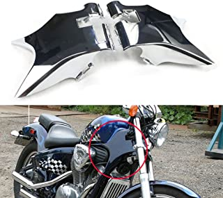 Alpha Rider ABS Plastic Frame Neck Cover Cowl for Honda Shadow VT600 VLX 600 STEED400 Chrome