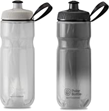 product image for Polar Bottle 2 Pack Fade Sport Insulated 20 Oz Water Bottle - White/Silver and Charcoal/Silver Combo - BPA Free, Sports Water Bottle with Tri-Layer Insulation and Leak Proof Sport Cap