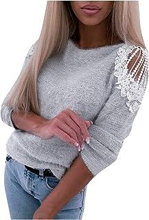 بلوزة حريمي من SportsXX بتصميم مجوف للخريف والشتاء مع جيب منحني