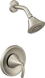 Moen T2742BN Glyde 1-Handle Posi-Temp Shower Trim, Valve Required, Brushed Nickel