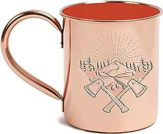 United By Blue 14 oz Copper Enamel Lined Mug, Orange (707/034/ORG), One Size