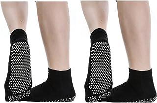 2 Pares Calcetines Antideslizantes para Yoga Pilates Ejercicios Deportivo