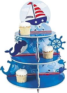 1 X Nautical Sailor Cupcake Holder Stand Size: 16